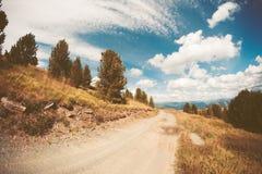 De herfstlandschap in bergen Royalty-vrije Stock Foto