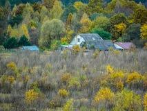 De herfstlandschap in Centraal Rusland stock afbeelding