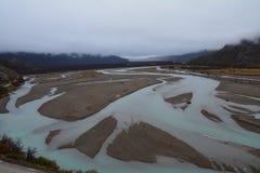De herfstlandschap in Gr Chalten Patagonië Argentinië stock foto