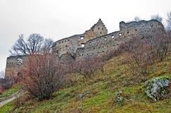 De herfstlandschap met kasteel Royalty-vrije Stock Afbeelding