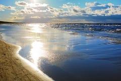 De herfstlandschap op de Oostzee, Jurmala - Letland Royalty-vrije Stock Fotografie