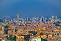De herfstlandschap van Bologna Stock Afbeelding