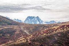 De herfstlandschap van de berg Stock Afbeeldingen