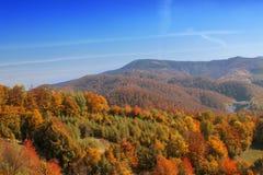 De herfstlandschap van de heuvel Royalty-vrije Stock Afbeelding
