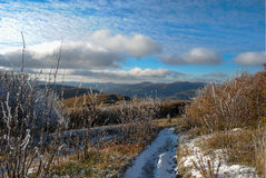 De herfstlandschap van de panoramaberg Royalty-vrije Stock Foto's