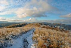 De herfstlandschap van de panoramaberg Royalty-vrije Stock Foto
