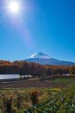 De herfstlandschap van Japan Stock Afbeelding