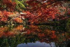 De herfstlandschap van Kyoto, Japan stock fotografie