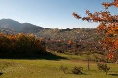 De herfstlandschap in Zemelen, Roemenië Stock Fotografie