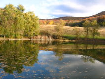 De herfstmeer Stock Afbeelding