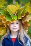 De herfstmeisje royalty-vrije stock afbeeldingen