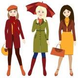 De herfstmeisjes Royalty-vrije Stock Afbeelding