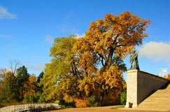 De herfstochtend in Catherine Park Stock Afbeeldingen