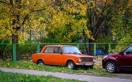 De herfstpark in Vyborg, Rusland Royalty-vrije Stock Fotografie