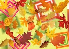 De herfstpatroon van bladeren Abstracte achtergrond en textuur voor DE Royalty-vrije Stock Foto's