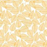 De herfstpatroon van bladeren Vector illustratie Naadloze Achtergrond Stock Foto's