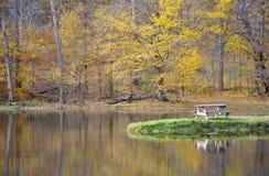 De herfstpicknick stock fotografie