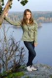 De herfstportret van de tiener Royalty-vrije Stock Foto