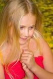 De herfstportret van een meisje Stock Fotografie