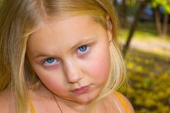 De herfstportret van een meisje Royalty-vrije Stock Afbeelding