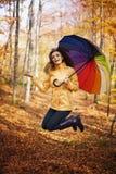 De herfstregen stock fotografie