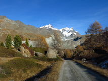 De herfstscène in Zermatt Royalty-vrije Stock Foto's