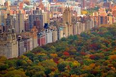 De herfstscène van het Central Park Royalty-vrije Stock Foto's