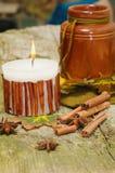 De herfststilleven op hout voor Dankzegging Royalty-vrije Stock Afbeelding