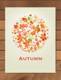 De herfstwaterverf om kader Kroon van de herfstbladeren Achtergrond met hand getrokken de herfstbladeren Val van de bladeren Sche Royalty-vrije Stock Fotografie