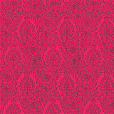 De herhaalbare Achtergrond van het Patroon van Paisley Hete Roze Stock Foto's