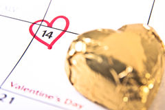 De Herinnering van de Dag van de valentijnskaart Stock Foto