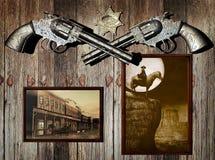 De herinneringen van de cowboy vector illustratie