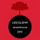 De herinneringsdag van Hiroshima Vector illustratie Stock Foto's