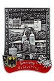 De herinneringsmagneet - Heidelberg castel in Duitsland royalty-vrije stock afbeelding
