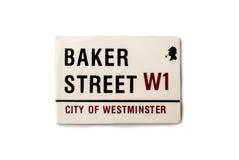 De herinneringsmagneet - het Baker straatteken Royalty-vrije Stock Afbeeldingen