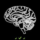 De hersenen het zijn wit pictogram Stock Afbeelding