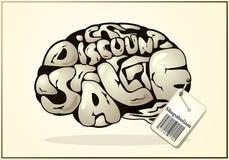 De hersenen van een Shopaholic vector illustratie