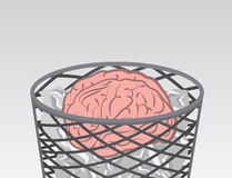 De Hersenen van het huisvuil Stock Foto's