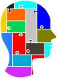 De hersenen van het raadsel Stock Afbeelding