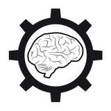 De hersenen van technologie Stock Foto
