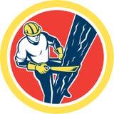 De Hersteller Harness Climbing Circle van de machtslijnwachter stock illustratie