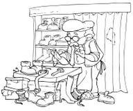 De hersteller van de schoen vector illustratie