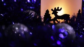De Herten lichte lamp van het Kerstmisnieuwjaar stock video