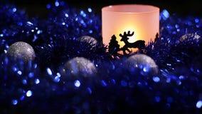 De Herten lichte lamp van het Kerstmisnieuwjaar stock footage