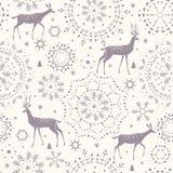 De herten naadloze winter Stock Foto's
