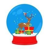 De herten van de sneeuwbol Royalty-vrije Stock Fotografie