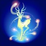 De herten van Kerstmis vector illustratie