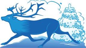 De herten van Kerstmis stock illustratie