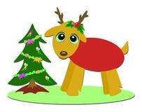 De Herten van Kerstmis en MiniBoom royalty-vrije illustratie