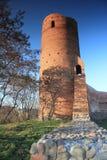De hertogenkasteel van Mazovian in Czersk, Mazovia, Polen Stock Afbeeldingen